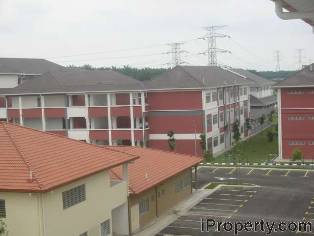 Next to secondary school (SMK)