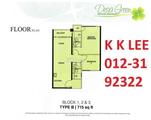 Desa Green Intermediate Serviced Residence 3 Bedrooms For Sale In Taman Desa Kuala Lumpur Iproperty Com My