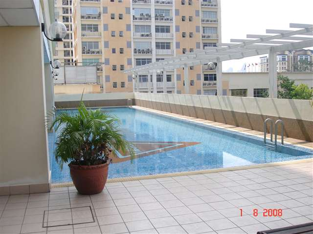 POOL DECK AREA WITH VIEW