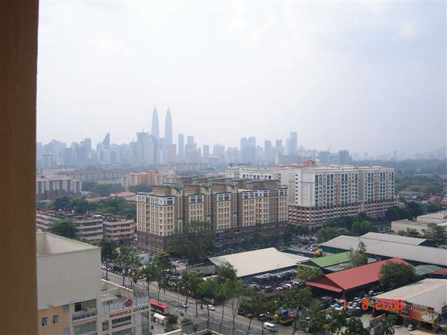 VIEW OF KLCC FROM BALCONY