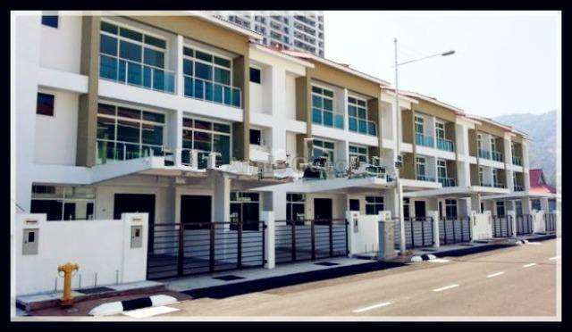Shineville villa falim ayer itam 3 sty terrace link house for Terrace 9 classic penang