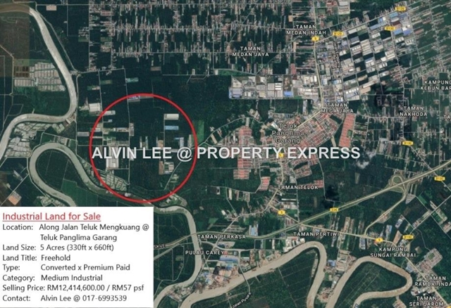 5 Acre Industrial Land @ TPG Teluk Panglima Garang, Air Hitam, Black Water, Jenjarom,Banting, Telok Panglima Garang