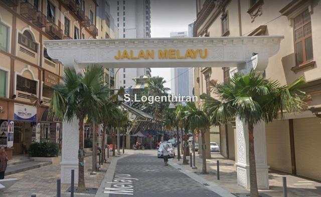 4 Storey Shop-Lot for Rent at Jalan Melayu, Masjid India, KL City