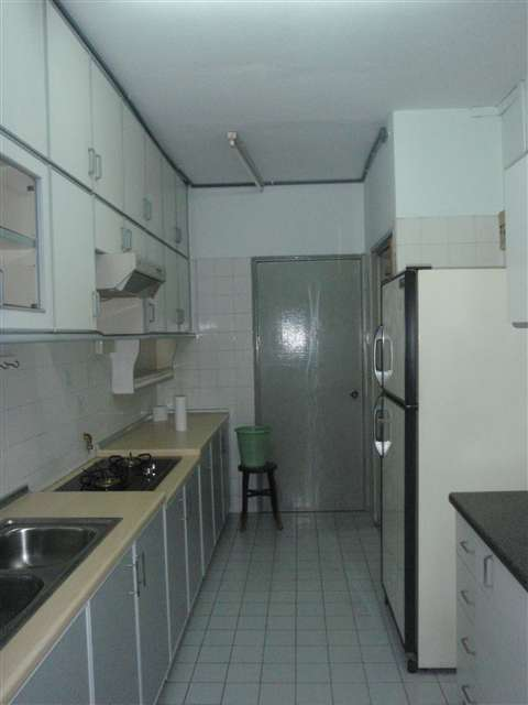 kitchen with cabinet