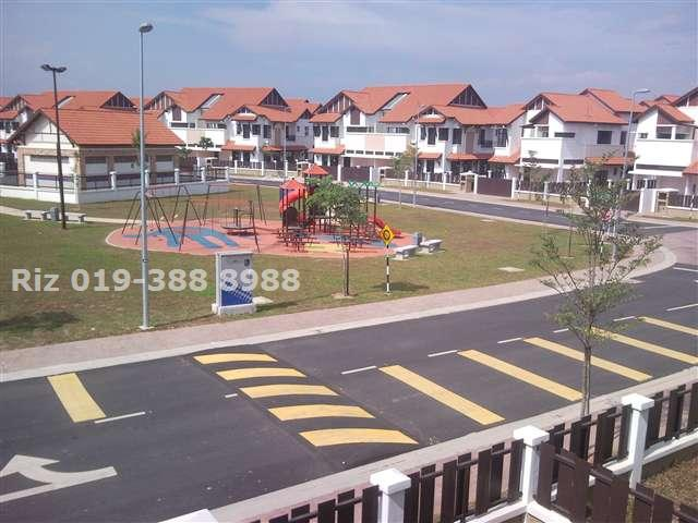 Playground in front of house