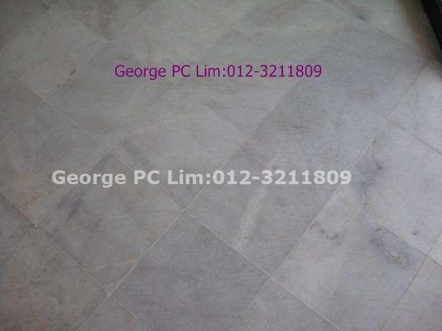 Squarish marble flooring