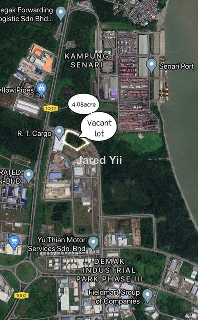 Demak Laut Industrial vacant land for sale, Kuching