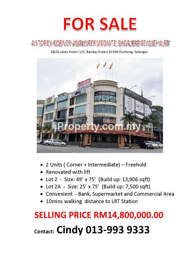 4Storey Shop-Office, Puchong