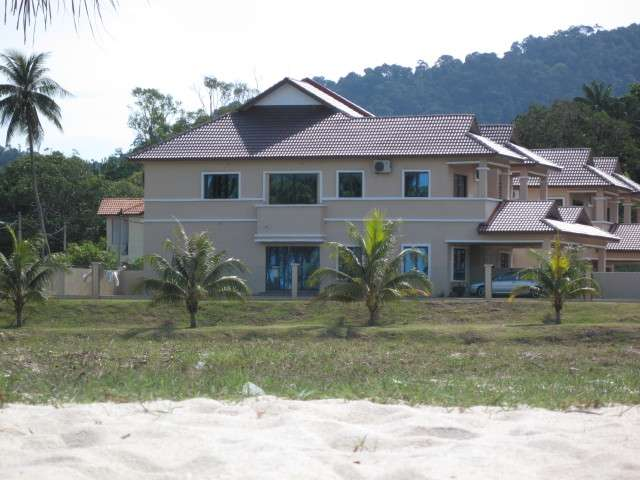 House viewed from beach