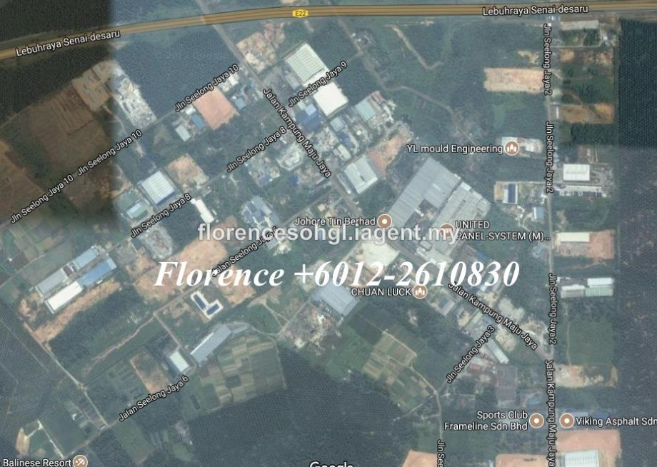 Seelong 10 acres Industrial Land For Sale, Senai, Seelong, Senai